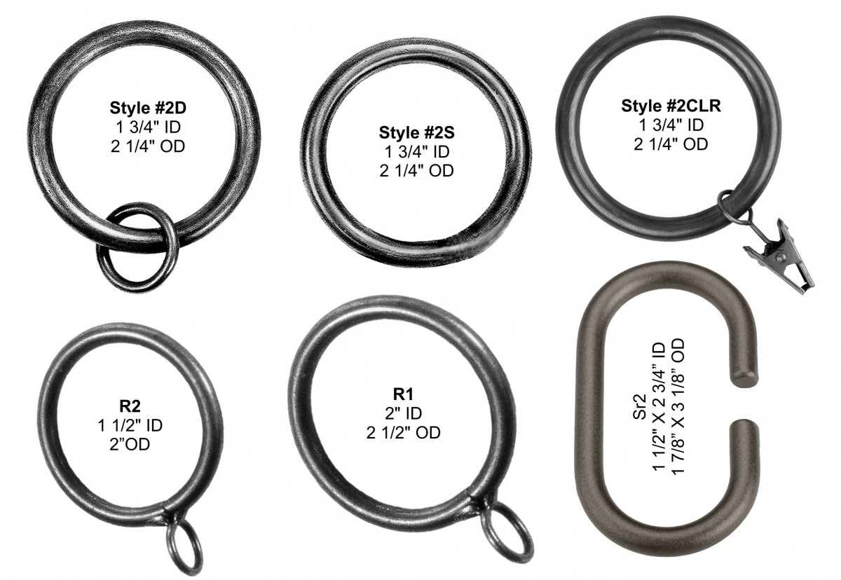 "Rings for 3/4"" and 1 1/4"" Rods"
